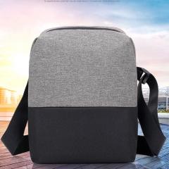 New men's student Single Shoulder Bag Canvas satchel business casual water splashing travel black and khaky 30x23x8cm
