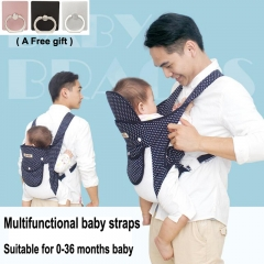 Multifunctional baby straps Detachable and breathable load-bearing 20KG Blue 50*23cm