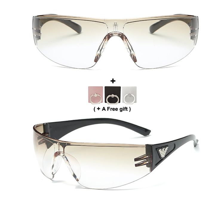 Car Driving Sunglasses Riding glasses Night Vision Wrap Arounds Lens Over Unisex Glasses Tan 134X113mm