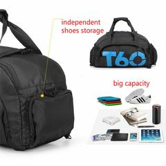 Sports Duffels Backpacks Gym Bags Waterproof - Travel Bag with Shoes Compartment, Fitness, Yoga blue 45x25x30cm