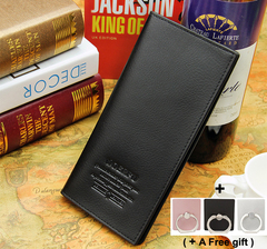 Men's Long Fashion Business Wallet Gift Card Bag Movable gifts black 19x9.5x1.5cm