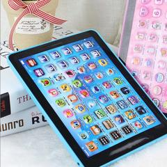Kids Toys Electronic Early Educational Learning Tablet Computer Best Christmas Birthday Gift blue 14.2×2×18.6cm