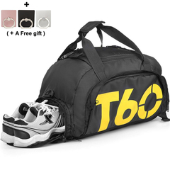 Sports Duffels Backpacks Gym Bags Waterproof - Travel Bag with Shoes Compartment, Fitness, Yoga yellow 45x25x30cm
