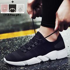 Men's Sports Shoes Ventilation Canvas shoe Little white shoes black 40