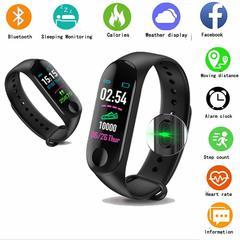 M3 High-end Smart Bracelet Waterproof Watch Message Reminder Smart Bracelet Android iOS Smartphone black one size