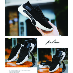 Fashion Sneakers Slip-proof breathable men's leisure shoes Lazy Shoes Small white shoes black 40