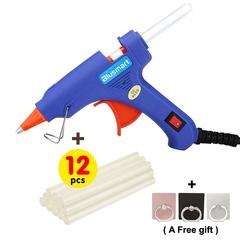 12 Pcs Melt Glue Sticks, Upgraded Hot Glue Gun, Safe and nontoxic through SGS test glue gun + 12pcs glue sticks 12pcs 7mm glue sticks