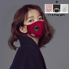 Anti-dust Mask Pure PM2.5 Activated Carbon dustproof and Fog Prevention Haze Red