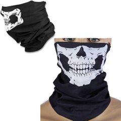 Skull print Multi-Purpose Scarf Bandana Mask Ghost Festival party COSPLAY men gift black 25×50cm