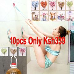 10pcs Adhesive Wall Hooks with Decorative Patterns Utility Hangers Bathroom Office gift bargains Decorative Patterns