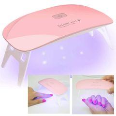 LED nail dryer Mini Gel nail lamp Portable Curing light for Gel Nail Polish bargains Pink