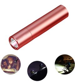 LED strong light flashlight USB charging Zoom 98000W Waterproof Safe at night Bargains rose gold 98000w  third gear light of different intensity t