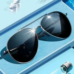 Sunglasses for Men Women UV Protection Lightweight Driving Fishing Sports Mens Sunglasses Black 150*142*52mm