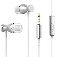 MONDAY Earbuds/Earphones/Headphones Wired Stereo Bass Headphones with Built-in Microphones silver