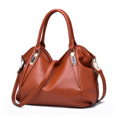 MONDAY Tote Bag for Mom Top Handle Satchel Handbags PU Leather Soft Large Capacity brown 36*26*15cm