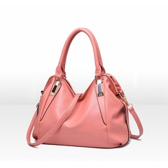MONDAY Tote Bag for Mom Top Handle Satchel Handbags PU Leather Soft Large Capacity pink 36*26*15cm