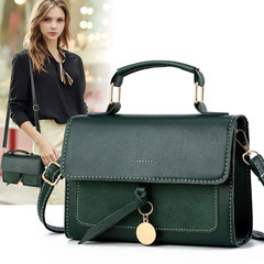 MONDAY Vintage Ladies Handbags with Handle and Strap Hard Crossbody Leather Shoulder Bag Messenger green 20*15*7cm