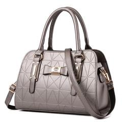 MONDAY Womens Long Crossbody Handbag  Ladies Satchel Tote Bag Shoulder Bags silver 31*13*22cm