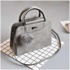 MONDAY Casual PU Leather Women Handbags Ladies Small Shopping Bag Shoulder Messenger Crossbody Bags grey 23*18*10cm