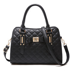 MONDAY Womens Long Rhomboids Handbag  Ladies Satchel Tote Bag Shoulder Bags black 32*13*22*16cm