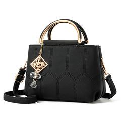 MONDAY 2019 New Summer Female Bag for Ladies Phone Pocket Zipper Woman Handbags black 24*13*16cm