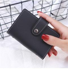 MONDAY Unisex Card Holder Leather ID Credit Card Business Card Passport Holder Wallet Organizer black 11.5*8*1cm
