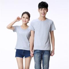 MONDAY Unisex Plain Tshirt Lovers Clothes 15 Color Top Dress for Men and Women Team Uniform T Shirts grey s cotton