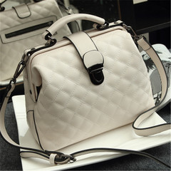 MONDAY Ladies Purse Crossbody Bag Diamond Lattice Handbags Genuine Leather Bags for Women white 27*10*19cm