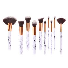 MONDAY 10Pcs Marble Pattern Makeup Brush Set Loose Powder Eyeshadow Brush Kit Women Beauty Tools 10pcs/set