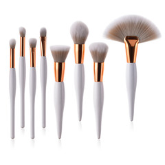 MONDAY 4/8 Pcs Cute White Makeup Brush Set Eyeshadow Brush Fan Brush Foundation Concealer Brush 8pcs/set