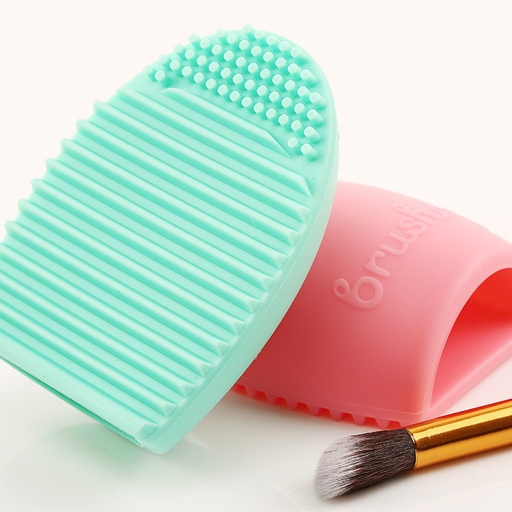 MONDAY 3Pcs Makeup Brush Cleaner Soft Silicone Cleaning Tool Washing Mat  Pad for Cosmetic Brush 3pcs random color