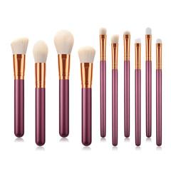 MONDAY 10Pcs Luxury Makeup Brush Kit Soft Nylon Hair with Wooden Handle Cosmetics Brush Set 10pcs/set