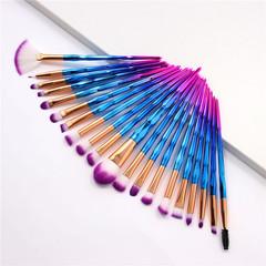 MONDAY 20Pcs Makeup Brush Kit Eyebrow Eyeliner Brush Fan Brush Makeup Tool Set for Women 20pcs/set blue purple