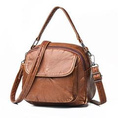 MONDAY Lightweight Shoulder Bag Women's Handbag Small Crossbody Bag Ladies Retro Shoulderbag brown 23*18*12cm