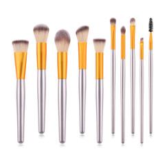 MONDAY 10Pcs Cosmetics Brush Set Ladies Face Makeup Brush Kit Wooden Handle Soft Nylon Hair Brush 10pcs/set