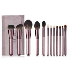 MONDAY 12Pcs Luxury Makeup Brush Set with PU Storage Bag Grape Color Foundation Brush Makeup Tools 12pcs/set grape color