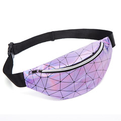 MONDAY Popular Fashion Waist Bag Glitter Cool Crossbody Bag Women's Chest Bag for Girls purple