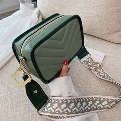 MONDAY Small Sqaure Shoulder Bag with Wide Strap Ladies Crossbody Bag Fashion Handbag green 20*13*8cm