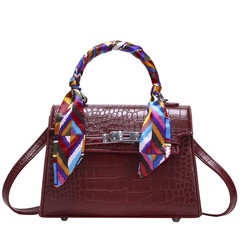 MONDAY Classical Kelly Bag Varnish PU Leather Handbag for Women Ladie Purse Small Crossbody Bag wine red 20*15*8cm
