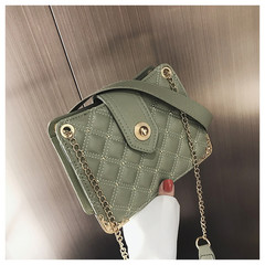 MONDAY Women's Bags Rivet Shoulder Bag Ladies Small Handbag Fashion Chain Crossbody Bag green 21*16*8cm