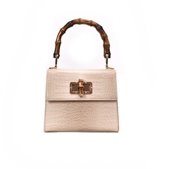 MONDAY Ladies Handbag Fashionable Crocodile Women's Bags Bamboo Handle Designer Crossbody Bag Purse khaki 20*17*8cm