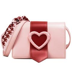 MONDAY Women's Handbag Valentine's Day Gift for Girl Friend Ladies Shoulder Bag with Heart Decor pink 18.5*13*11cm