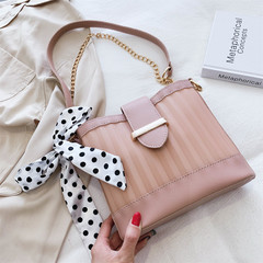 MONDAY Chain Bucket Bag Women's Jelly Bag Ladies Bowknot Handbag Shoulder Bag Totes for Girls pink 21*19*8cm