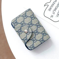 MONDAY Unisex Card Holder Men and Women's Credit Card Wallet Business Card Organizer Bag Card Case blue 10*8cm
