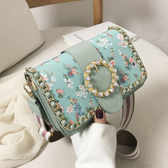 MONDAY Floral Printed Handbag Women's Bag Girls Crossbody Bag Ladies Shoulder Bag green 21*14*10cm