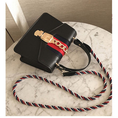 MONDAY Handbags Women's Fashion Bag String Shoulder Bag Ladies Mini Crossbody Bag Purse black 20*14*8cm