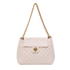 MONDAY Diamond Lattice Tote Bag Women's Bag Chain Shoulder Bag Large Crossbody Bag for Ladies white 29*24*8cm
