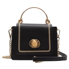 MONDAY Women's Handbag with Metal Handle Chain Strap Shoulder Bag Ladies Crossbody Hasp Bag black 18*15*8cm