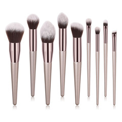 MONDAY 4/9/10Pcs Makeup Brush Set Foundation Eyebrow Eyeliner Blush Brush Soft Hair Cosmetics Tools 9pcs/set