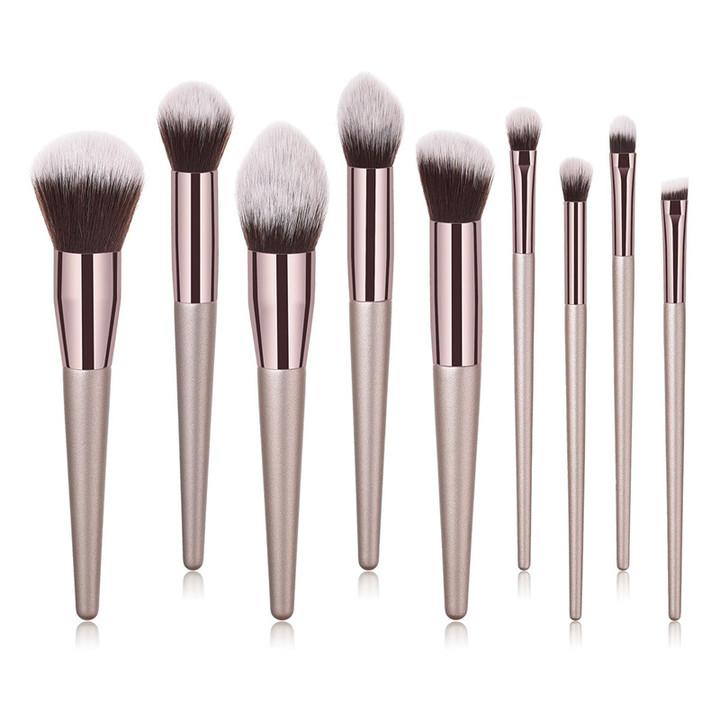 MONDAY 4/9/10Pcs Makeup Brush Set Foundation Eyebrow Eyeliner Blush Brush Soft Hair Cosmetics Tools 9pcs/set